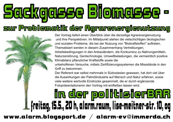 sackgasse biomasse politisierbar