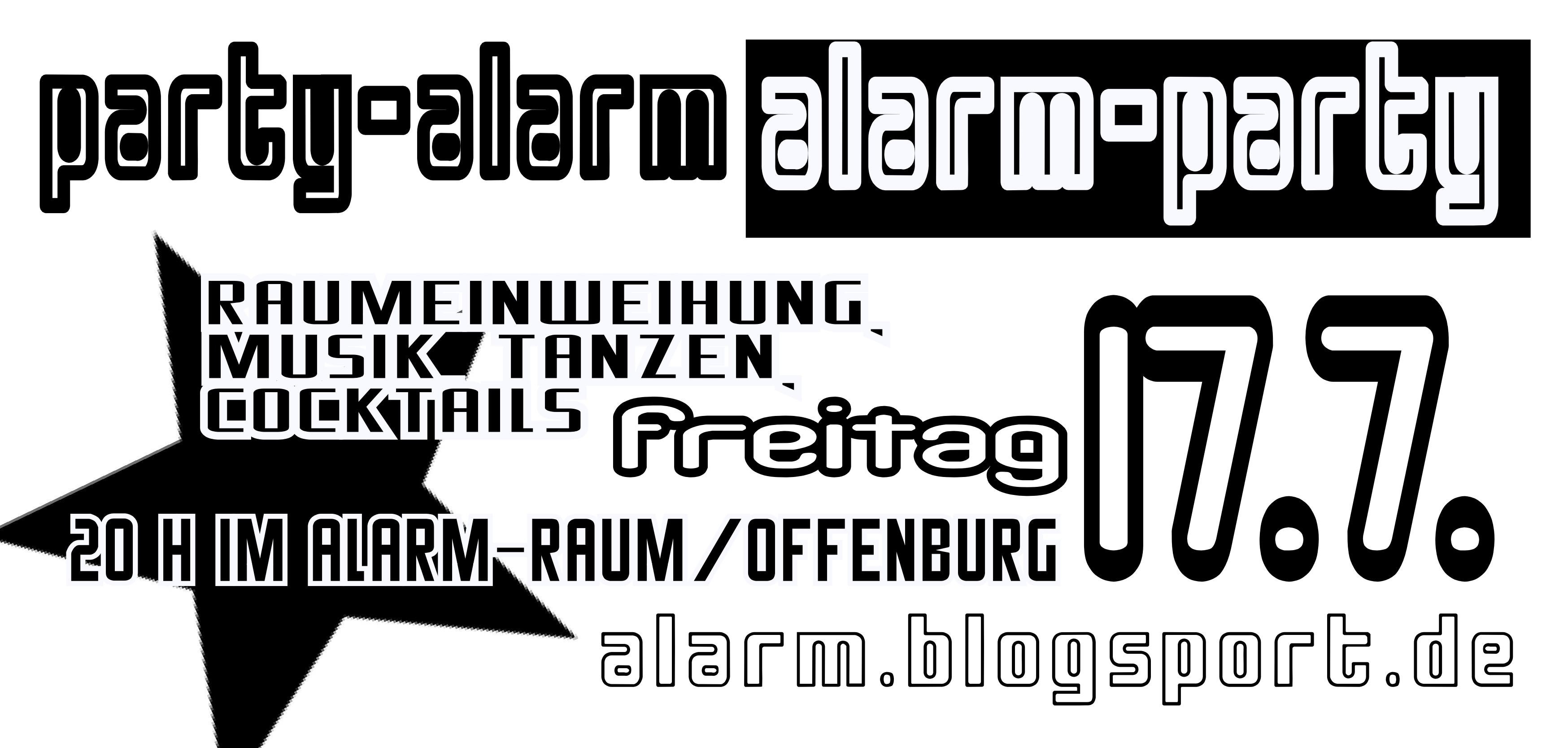 alarm-party 17.7.2009