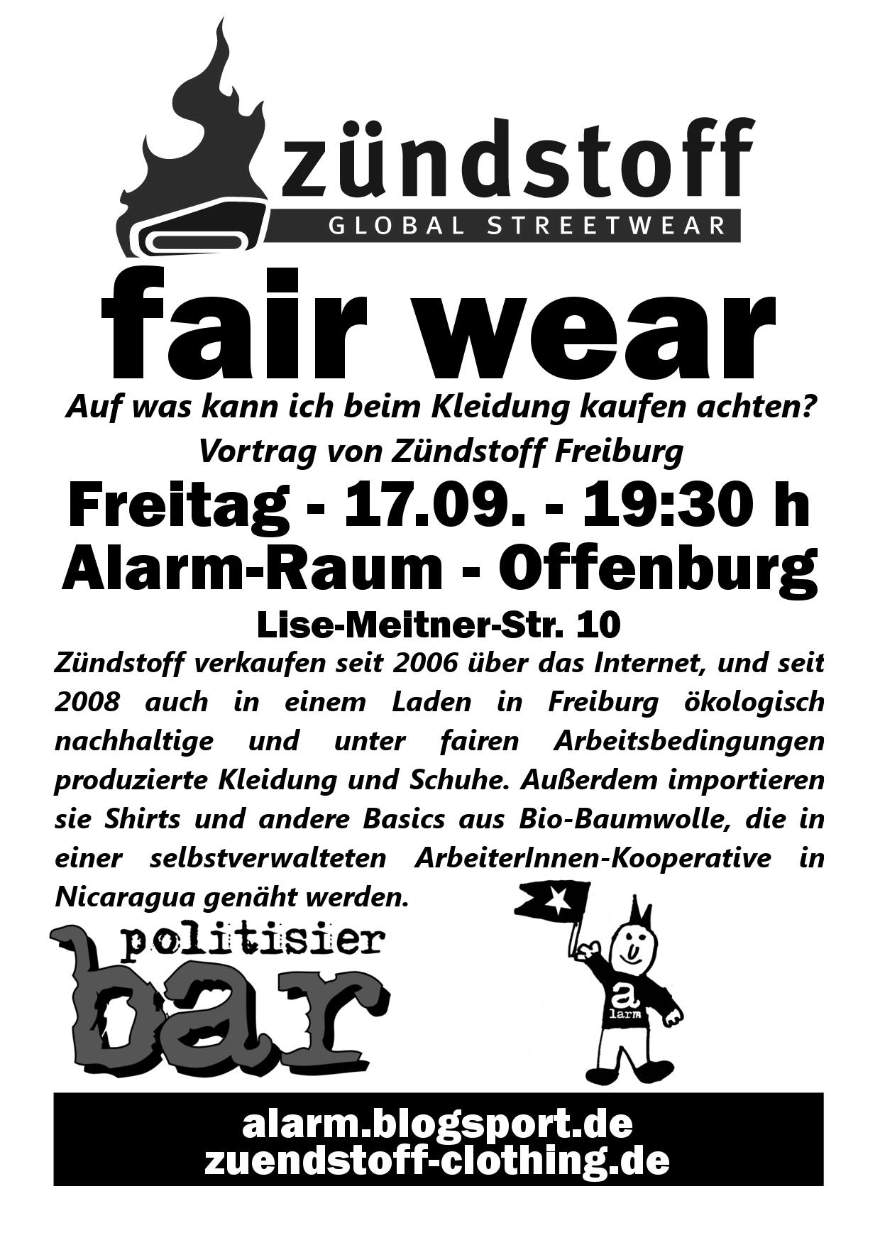 fair wear zuendstoff politisierBAR