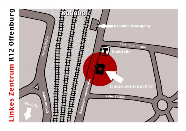 Wegbeschreibung Alarm im Linken Zentrum Offenburg